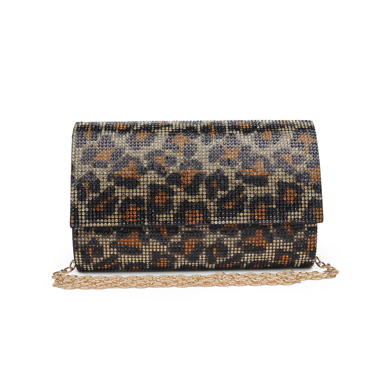 Becky Clutch Gold Leopard