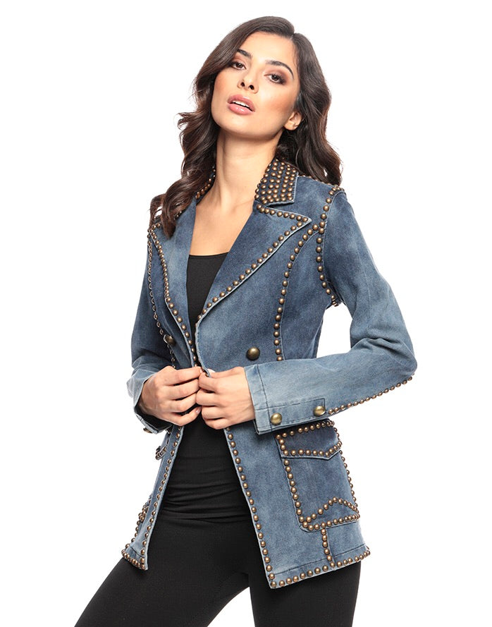 Ellie Jacket Blue Denim