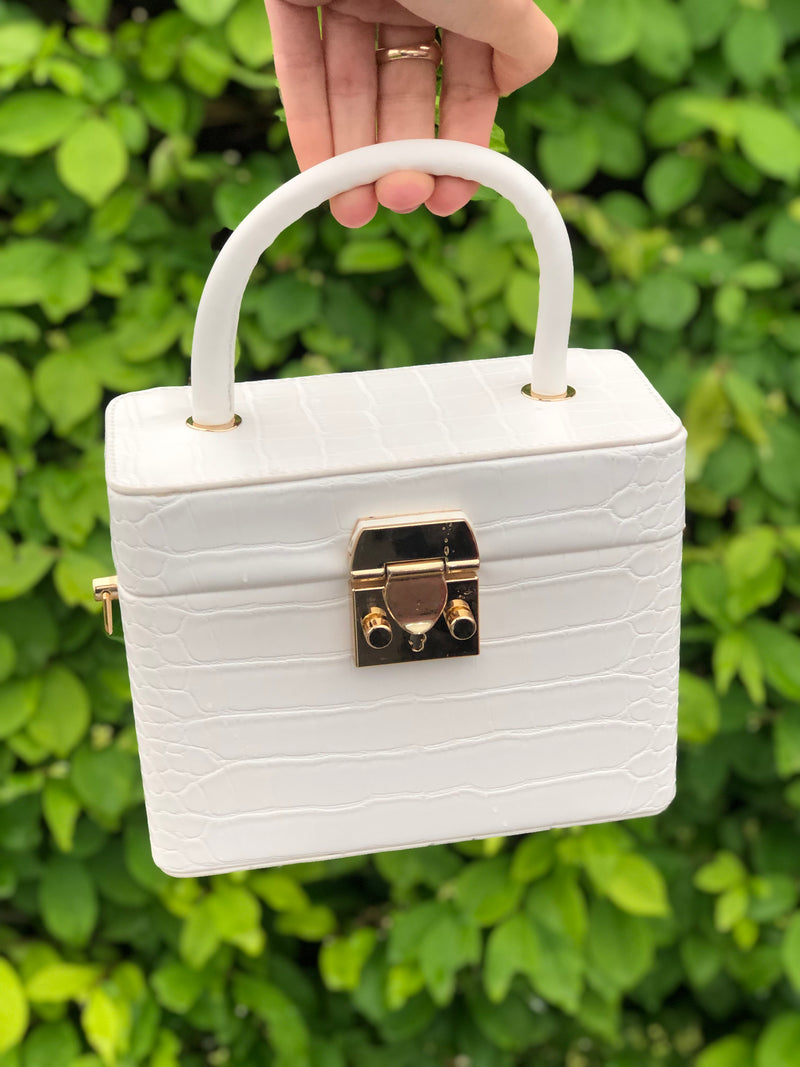 Zoey Mini Bag White Croc