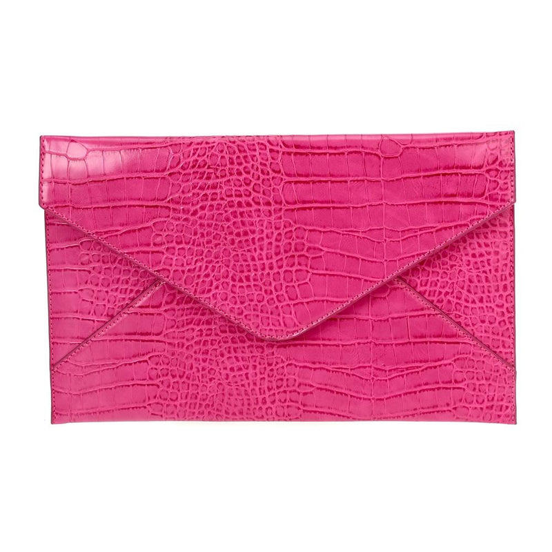 Large Envelope Clutch Fuchsia