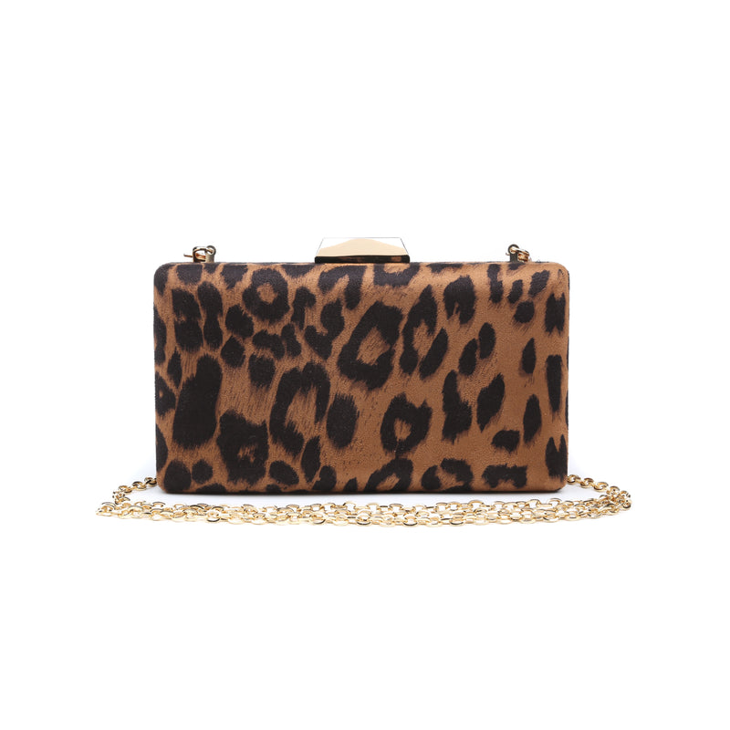 Flora Clutch Brown Leopard