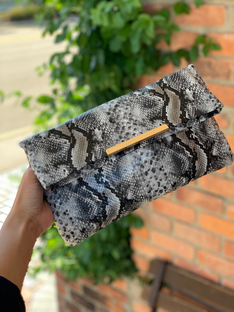 Amber Clutch Black Multi