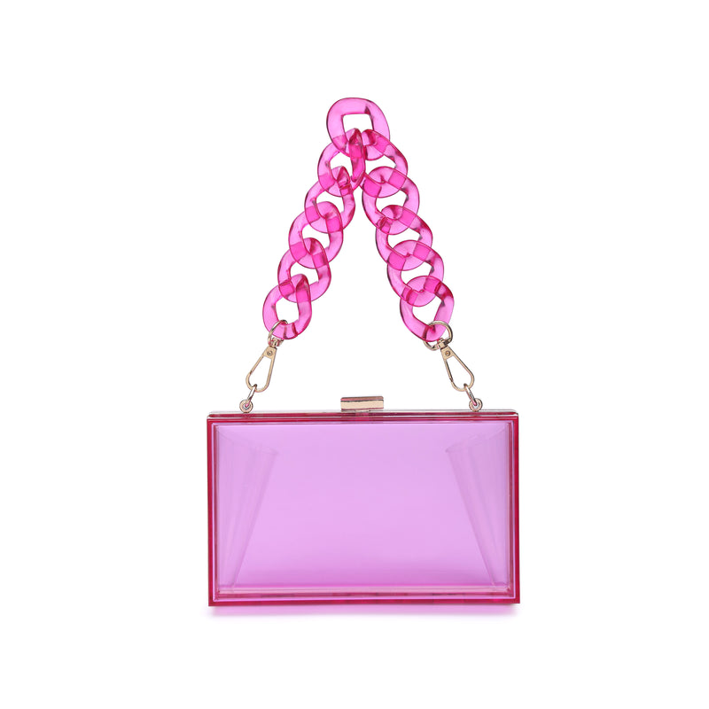 Lizzo Acrylic Clutch Pink