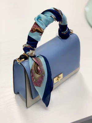 Jennifer Tote Blue White