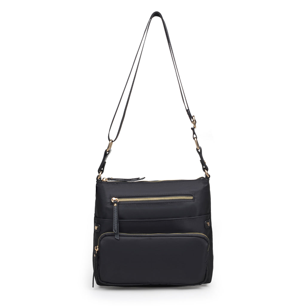 Julia Nylon Crossbody Black