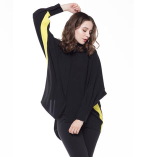 Stingray Blouse Black/Lime