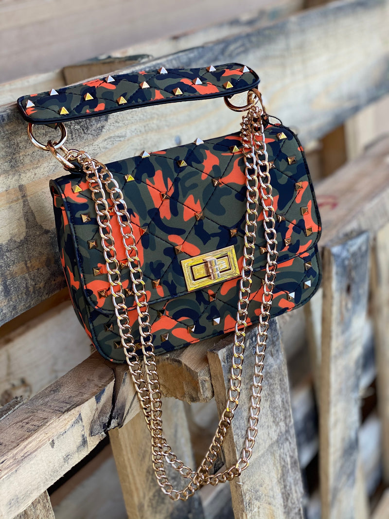 Spark Crossbody Orange Camo