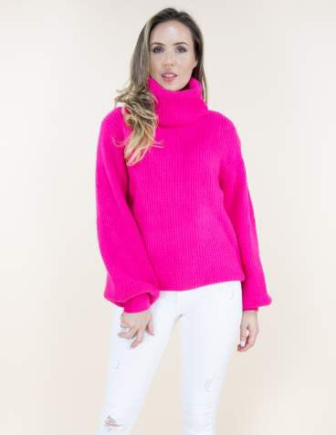 Carmen Sweater Fuchsia