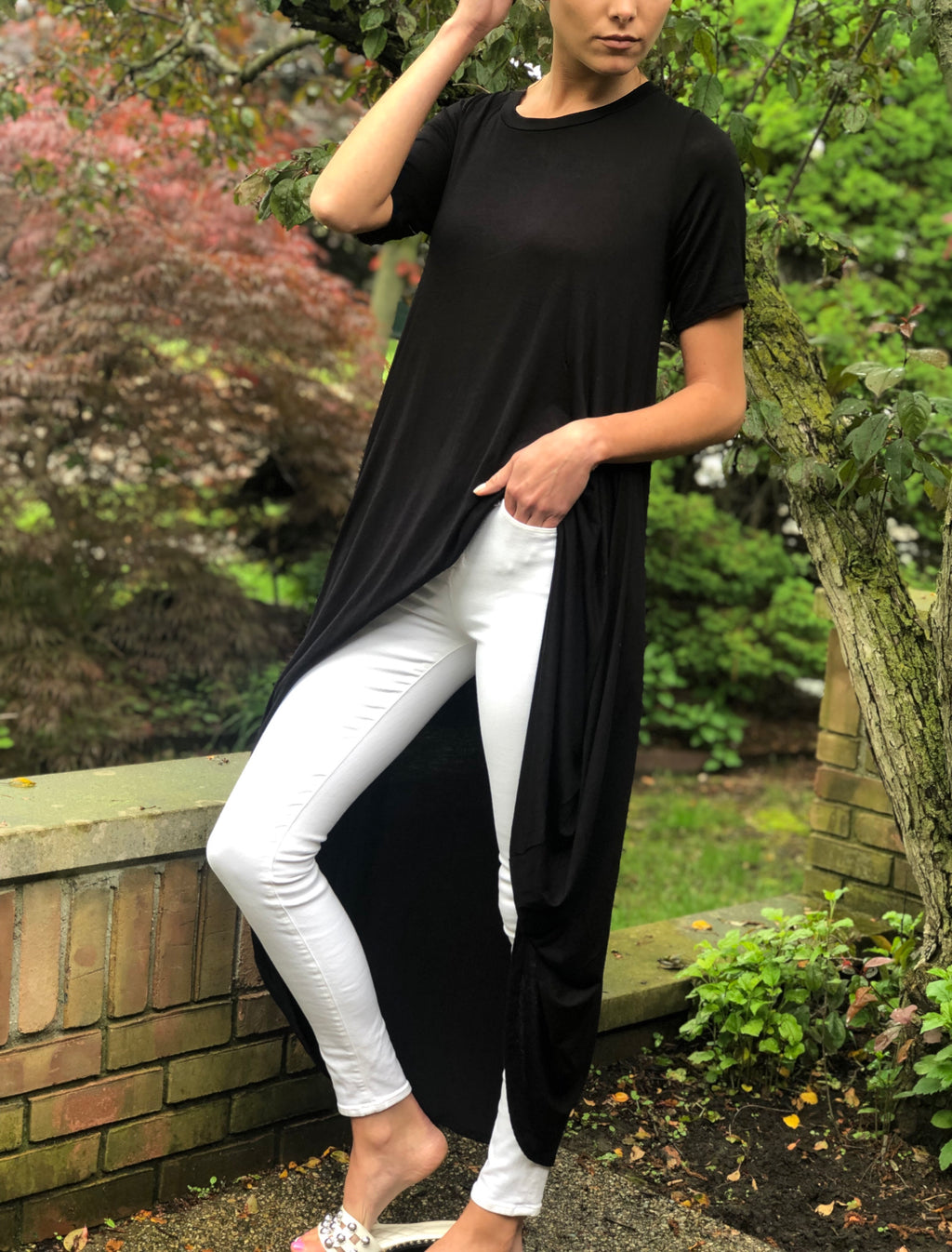 High-Low Tunic Black