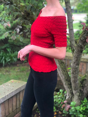 Darcy Top Red