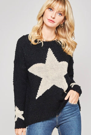 Star Sweater Black