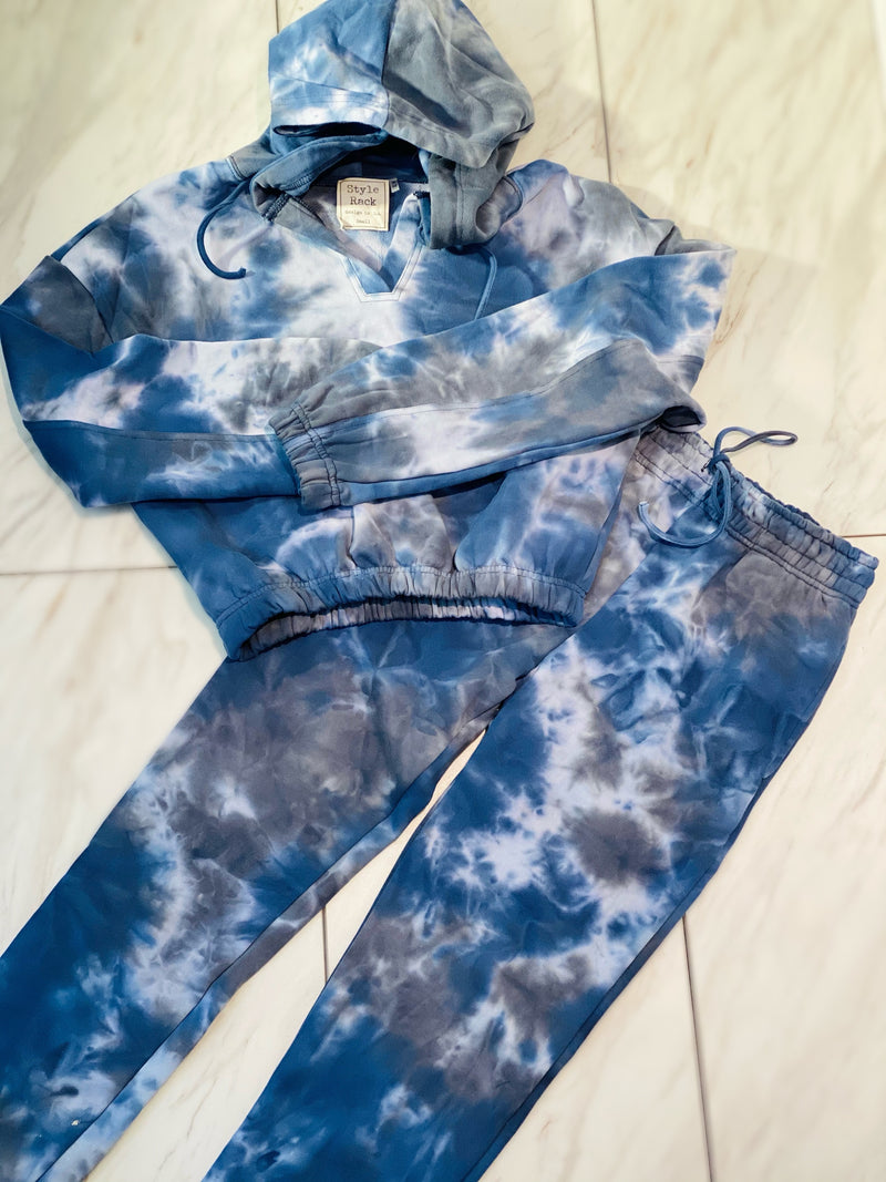 Kendall Sweatsuit Set Blue