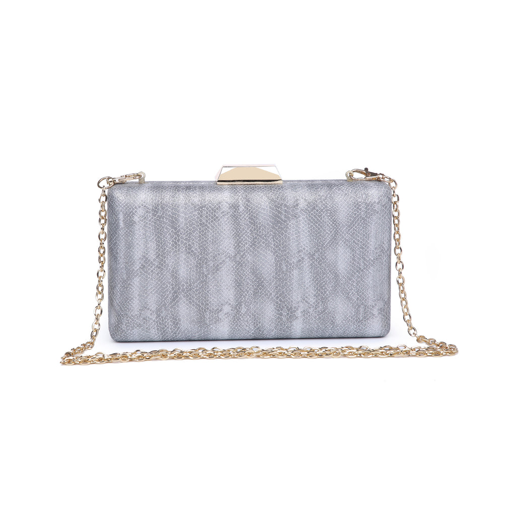Flora Clutch Metallic Snake
