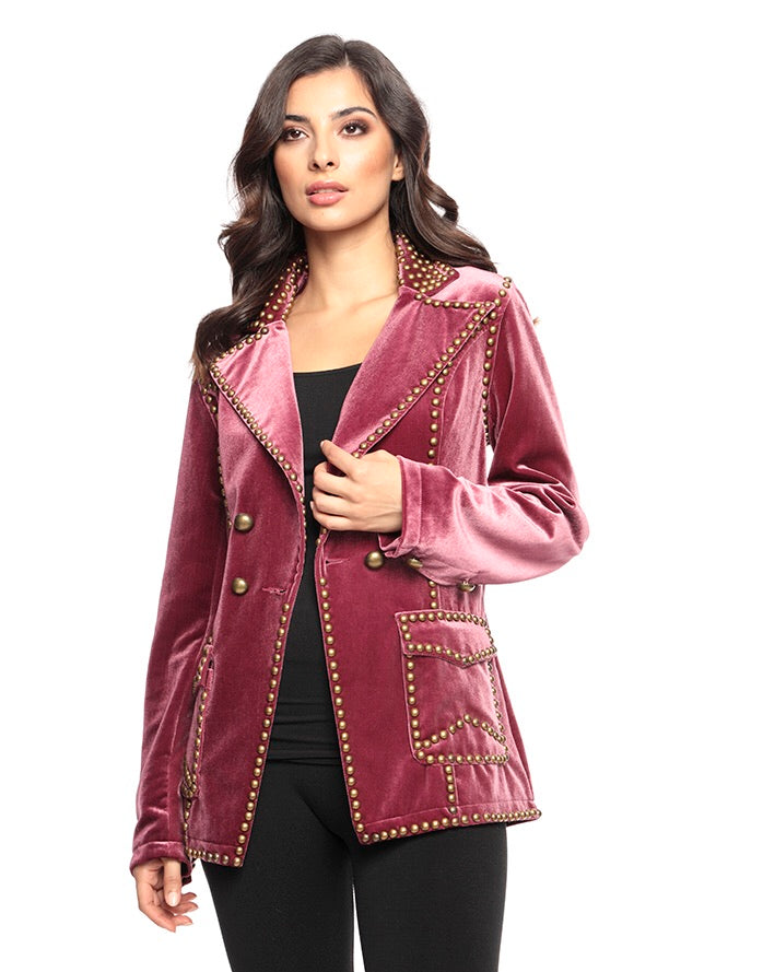 Emma Jacket Purple Velvet