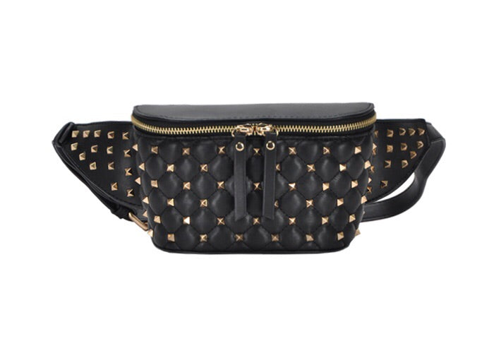 Studded Fanny Pack Black