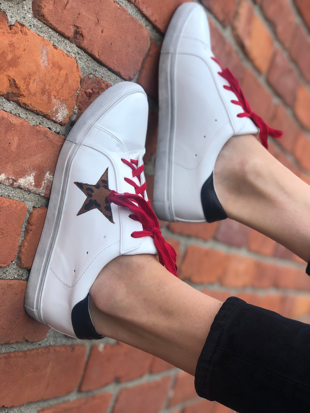 Rock Star Sneaker White/Red