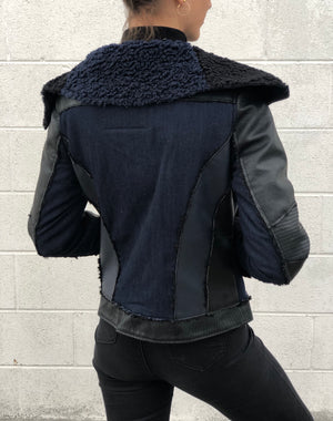 Norah Jacket Denim & Black