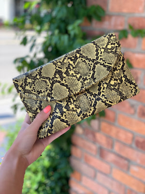 Snake Clutch Yellow