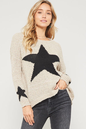 Star Sweater Taupe
