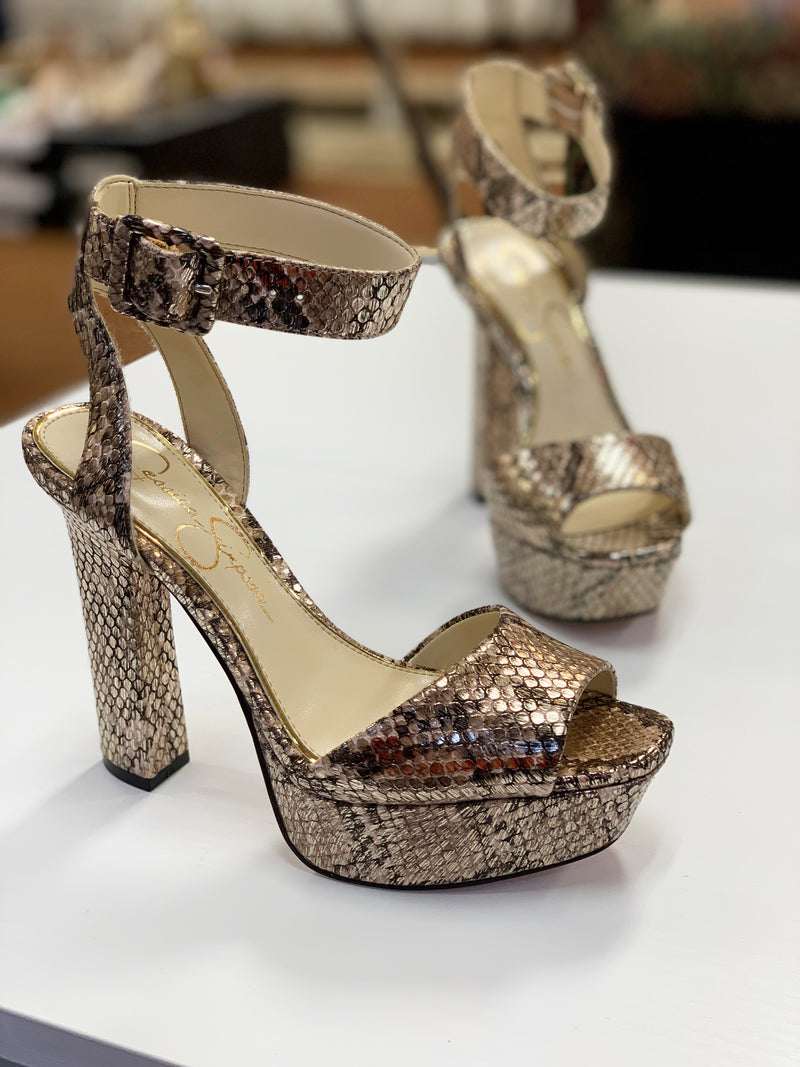 Jessica Simpson Maicie Gold Snake