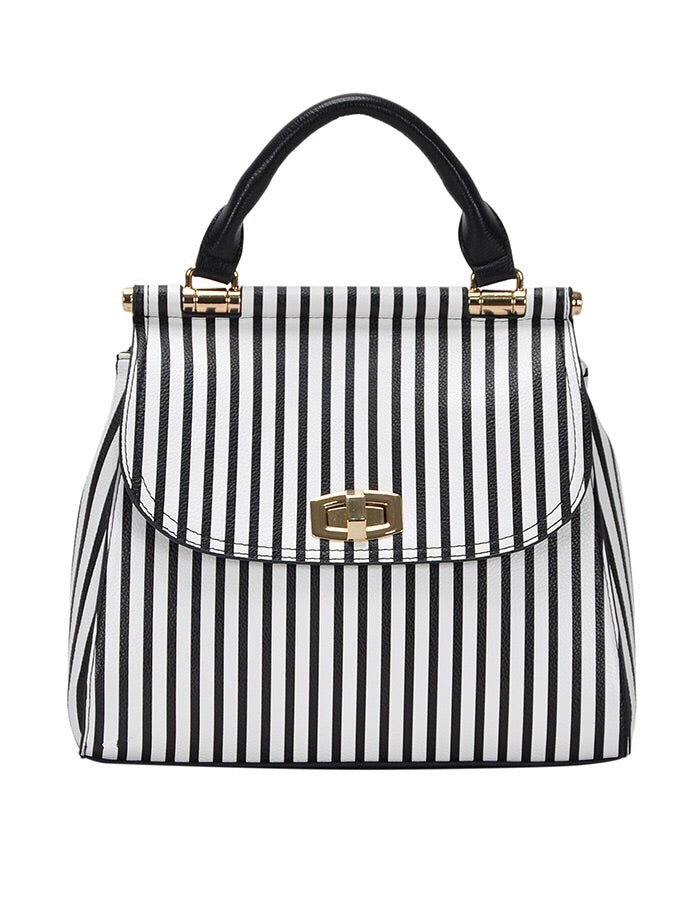 Striped Convertible Backpack/Tote