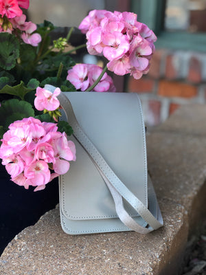 Cell Phone Crossbody Grey