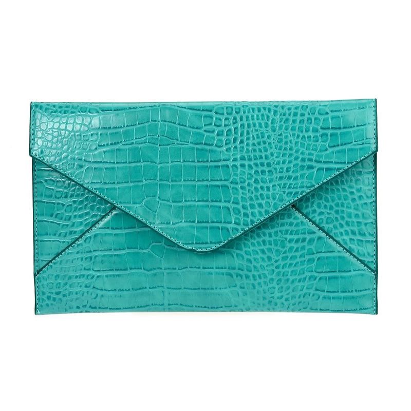 Large Envelope Clutch Turquoise