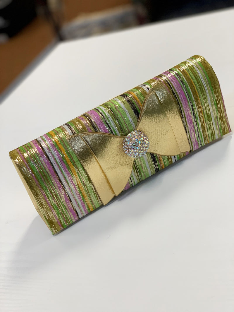 Zelda Clutch Lime Multi