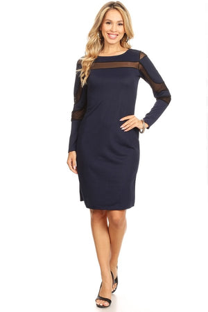 Ensley Mesh Dress Navy