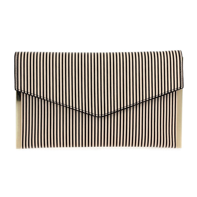 Striped Clutch Nude