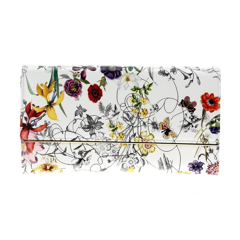 Floral Clutch White Multi