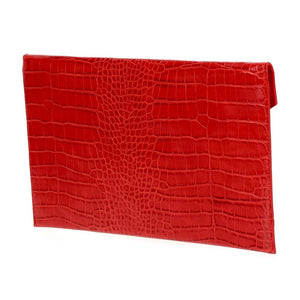 Large Envelope Clutch Red