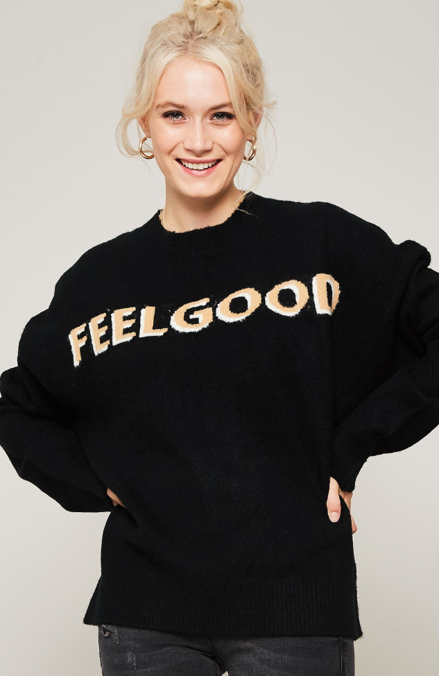 Feel Good Sweater Black