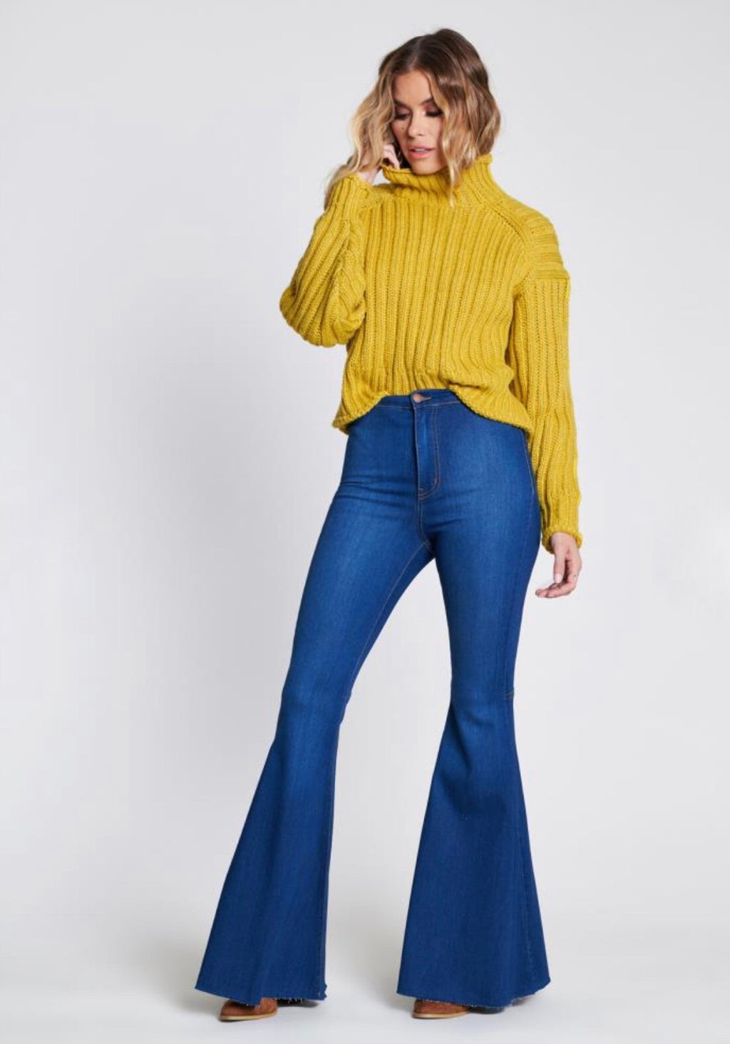 Allie Flare Jean Blue Denim