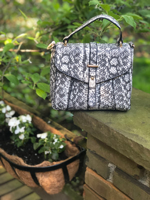 Mini Snake Tote Black/White