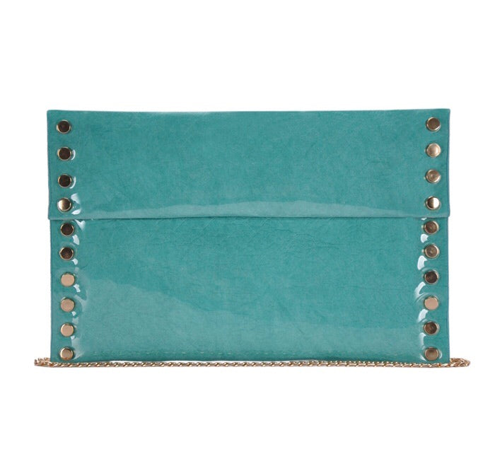 Large Envelope Clutch Mint