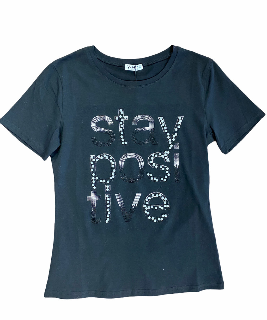 Stay Positive Shirt Black