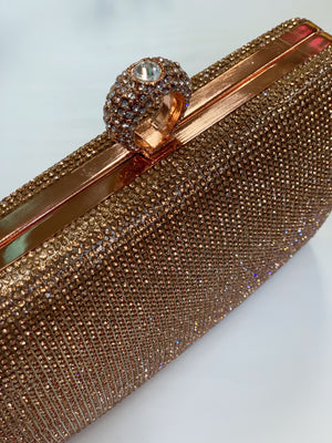Bling Ring Clutch Rose Gold