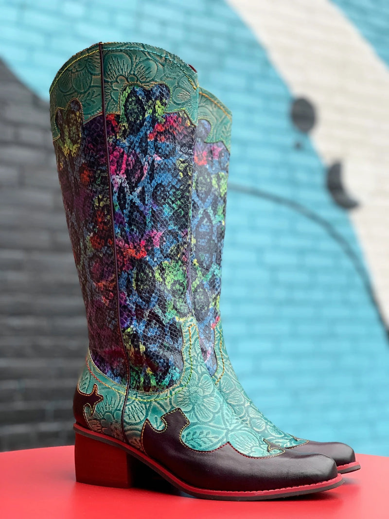 L'Artiste by Spring Step Rodeo Turquoise Multi