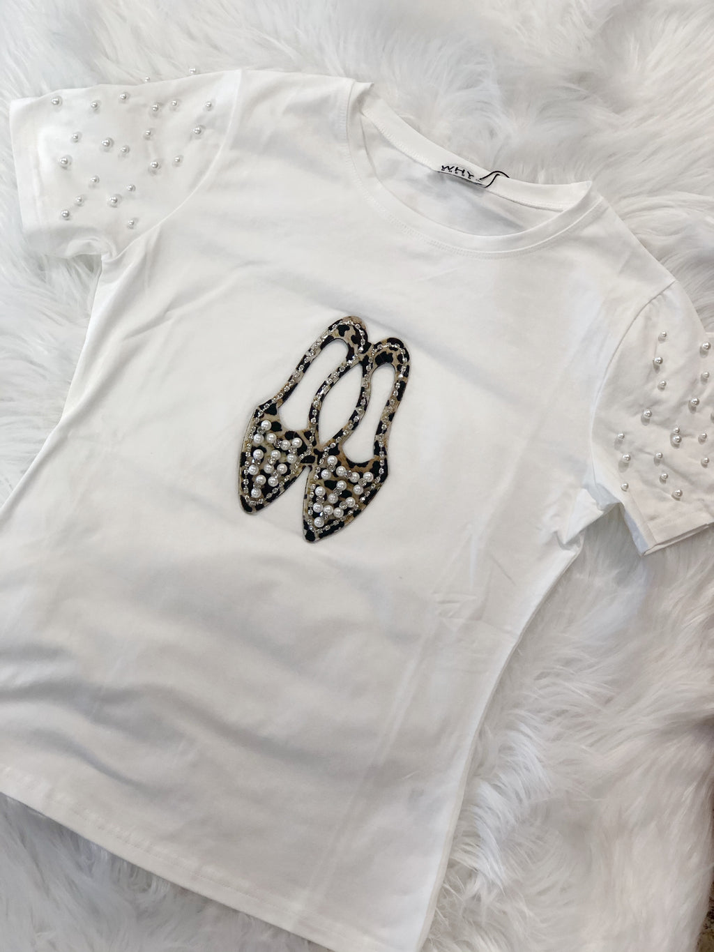 Pearled Perfection T-Shirt White