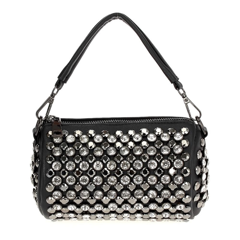Funky Rhinestone Bag Black