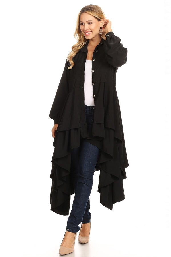 Sienna Top/Jacket Black