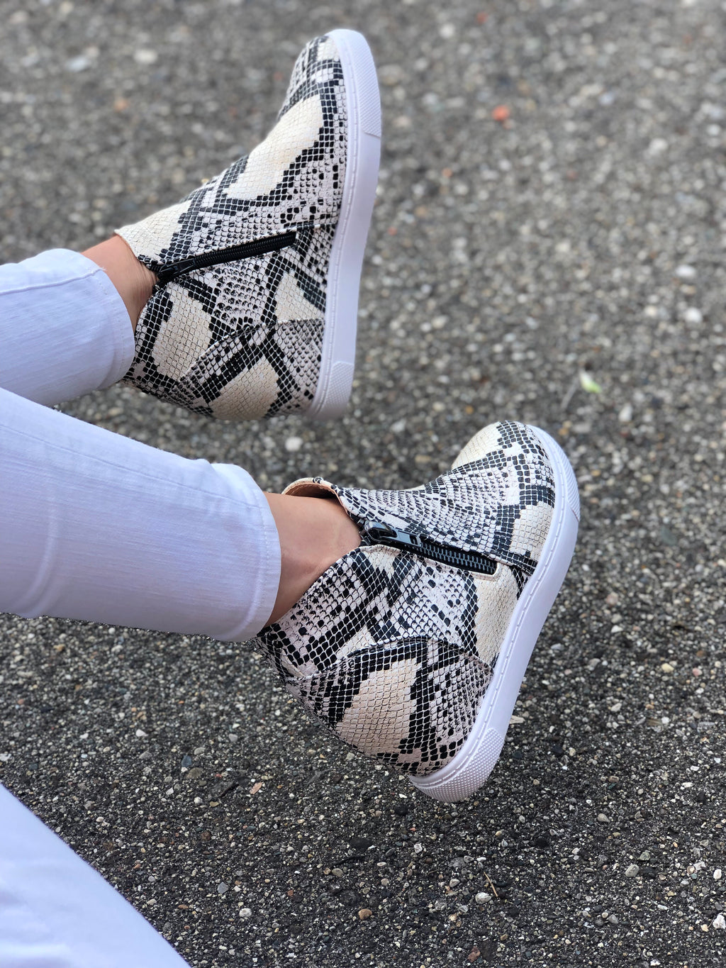 Hallie Wedge Sneaker Snake