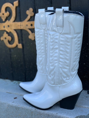Southern Belle White Patent