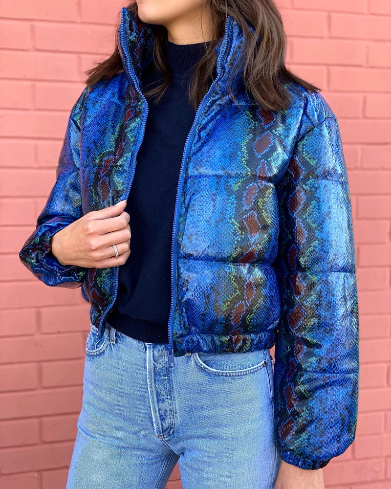 Midtown Blue Snake Puffer