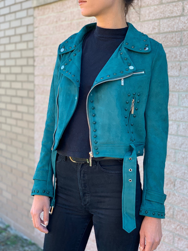 Teal Suede Jacket