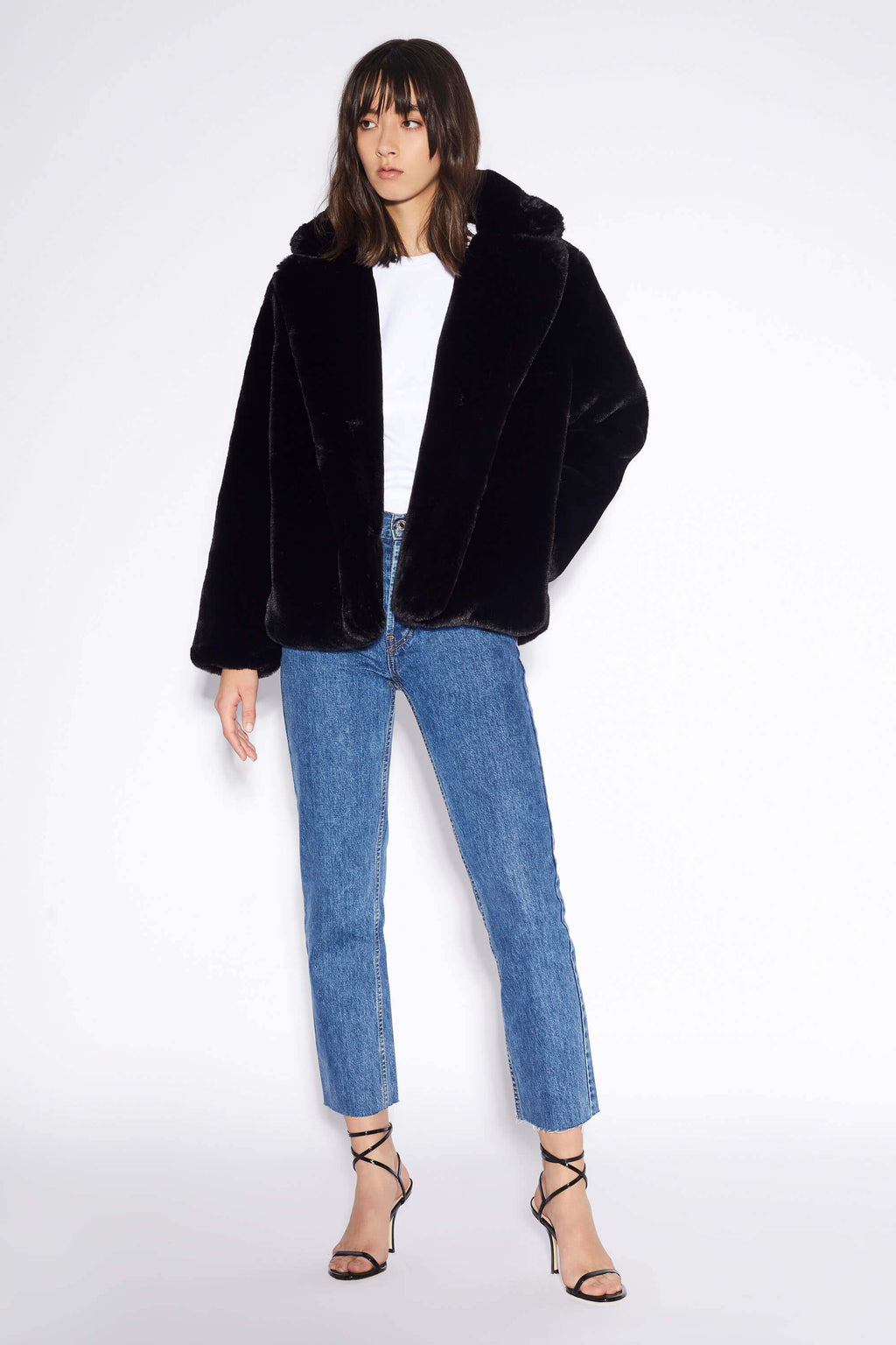 Apparis Manon Faux Fur Jacket Black