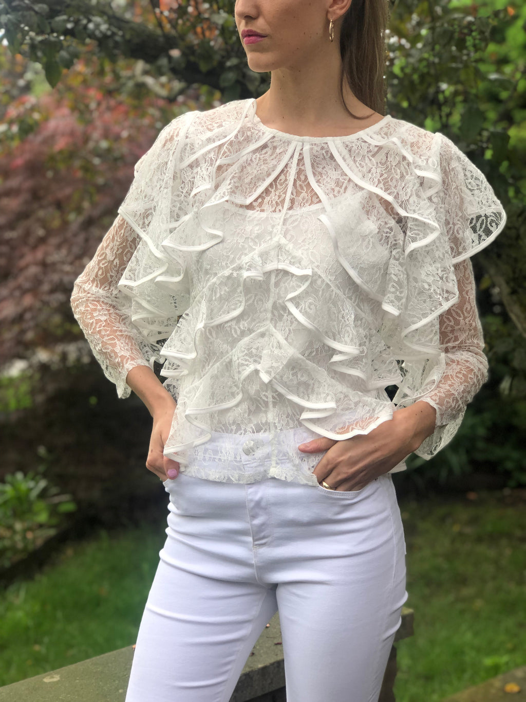 Isabella Top White