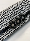 Isabel Clutch Black White