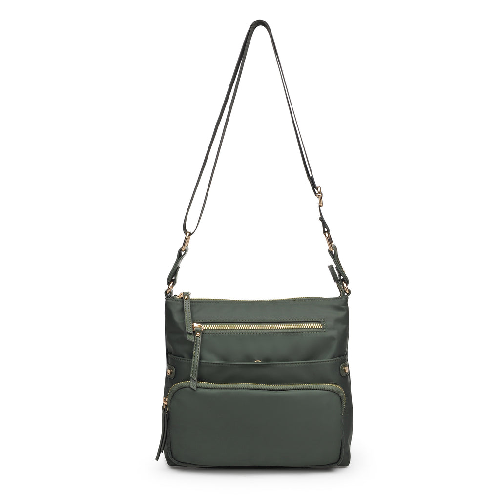 Julia Nylon Crossbody Olive